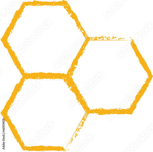bee comb icon vector - 66939659