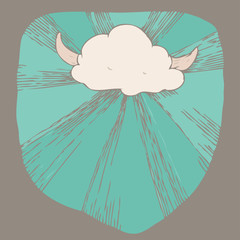 Viking Cloud Vector Illustration
