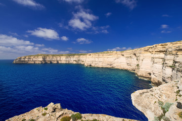 Coastline on Gozo Malta