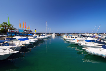 boats at marina Tenerife Island Spain