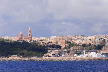 View on city Mgarr Malta