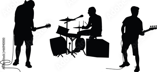 music band silhouette vector - 66940000