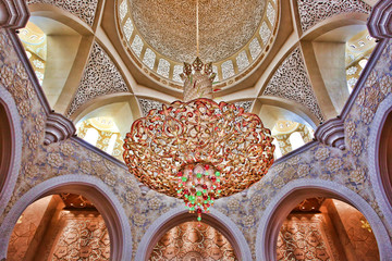 Interior of Sheikh Zayed mosque, Abu Dhabi, United Arab Emirates