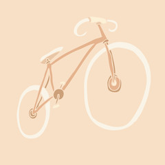 City bicycle, Vector Illustration