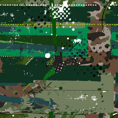Grunge camouflage pattern