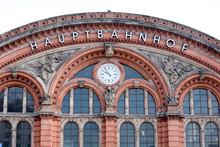 grande façade de la gare allemand