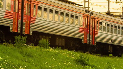 Red train. HD 1080.