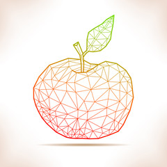 Geometric apple.