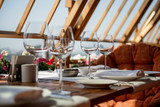 served table on the veranda - 66941665