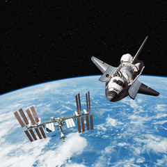 The Space Shuttle and International Space Station.