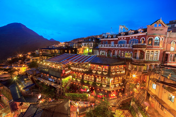 Night view of Jiufen, Taiwan