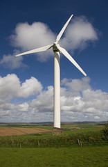 Wind turbine. Cornwall (UK).