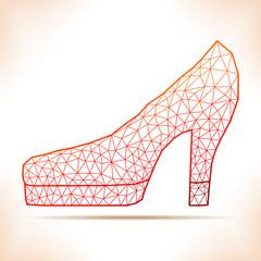Geometric shoe.
