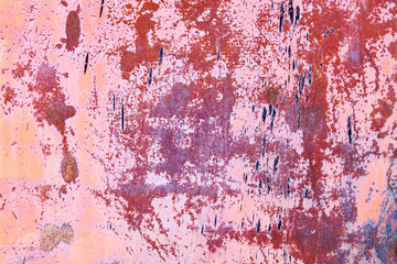 rusty vintage orange pink metallic iron background