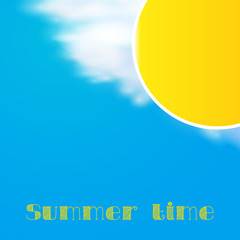 summer day background vector, easy all editable