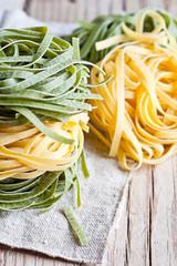 italian pasta tagliatelli