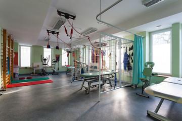 Interior of physiotherapy clinic