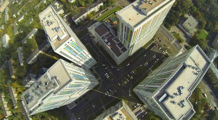 Street of modern city