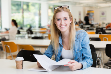 young student girl learning