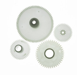 white plastic gear