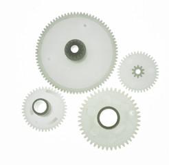 white plastic gear