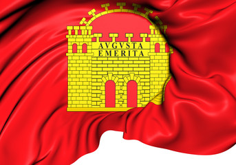 Flag of Merida, Spain.