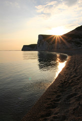 Sunset Jurassic Coast, UK