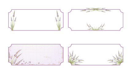 Lavender Flower Label Set