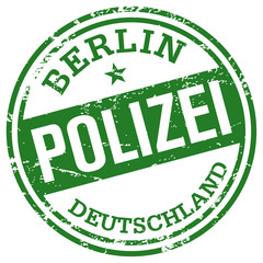 polizei rubber stamp