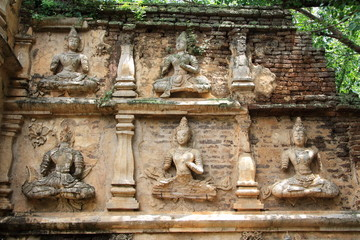 Dewa stone carving at Wat Chet Yot, Changmai