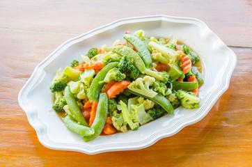 Stir vegetables