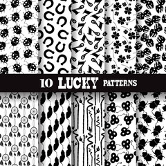 lucky seamless patterns set