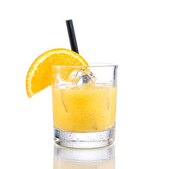Freddy fudpucker Cocktail  on isolated white