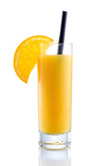 Orange Juice on isolated white