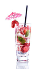 Strawberry Mojito  on isolated white