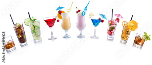 Cocktail Mix arched shape on  isolated white - 66946625