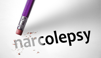 Eraser deleting the word Narcolepsy