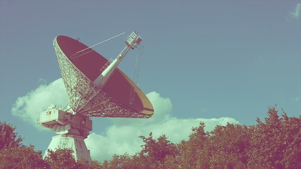 Satellite dish space objects old video film