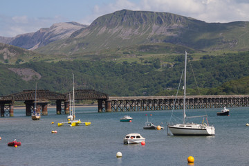 Barmouth's famous railway bridge