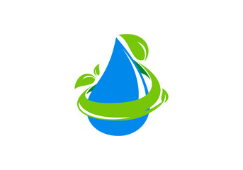 eco water clean vector logo
