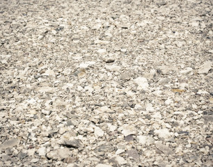 Background of stones, gravel road