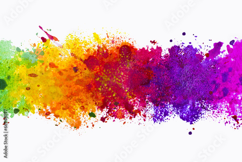 Leinwandbild Motiv Abstract artistic watercolor splash background