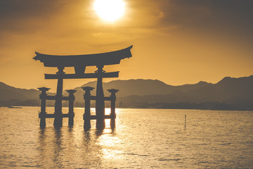 The Floating Otorii gate at Miyajima, Japan.