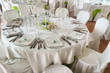 Table set for an event party or wedding reception - 66949202
