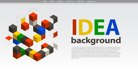 Website template with abstract shapes
