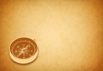 compass on gold background