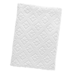 White cotton rectangular towel, isolated
