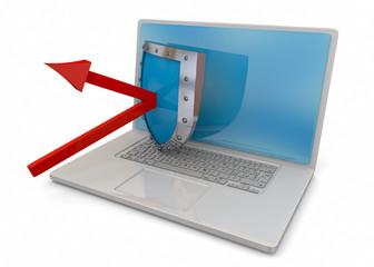 Computer Security Concept - 3D