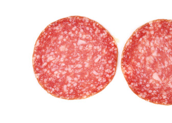 Slices of salami.