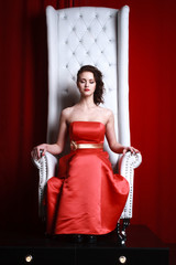 princess woman in a red